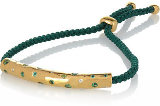 Monica Vinader Esencia gold-plated, diamond and Gemfields emerald bracelet
