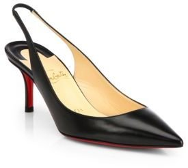 Christian Louboutin Apostrophy Kid Leather Slingback Pumps