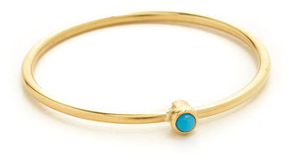 Jennifer Meyer Jewelry 18k Gold Thin Ring with Turquoise