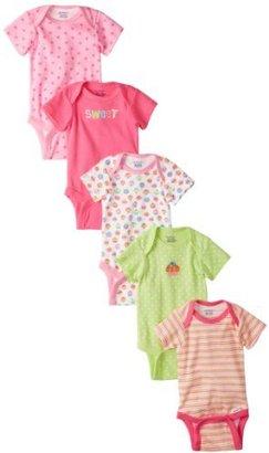 Gerber Baby-Girls Cupcakes 5 Pack Variety Onesies Brand