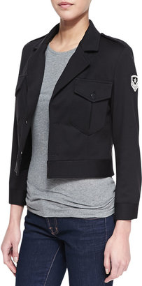 Vince Laveer Cropped Field Jacket with Emblem
