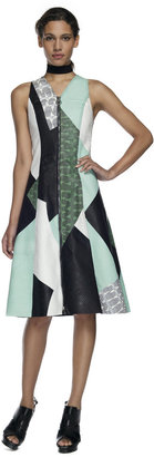 Proenza Schouler Jade Combo Sleeveless Zip Front Dress