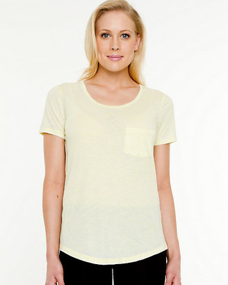 Le Château Essential Cotton Blend Burnout T-Shirt