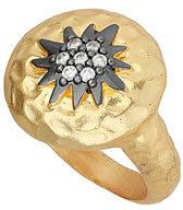Topshop Premium Star Rhinestone Ring