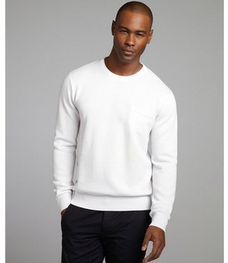 Shades of Grey white cotton blend thermal crewneck