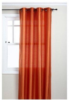 "Style Master Stylemaster Tribeca 56 x 120"" Faux Silk Grommet Panel, Mandarin"
