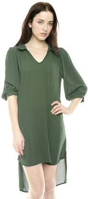 Glam Green Collar Dress