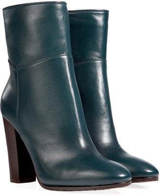 L'Autre Chose LAutre Chose Leather Ankle Boots in Baltic Blue