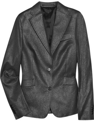 Clemens en August Metallic cotton-blend blazer