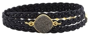 Alexandra Beth Designs Black Druzy Wrap Bracelet