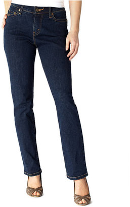 Levi's Petite 512 Perfectly Slimming Straight-Leg Jeans, Hammered Dark Wash
