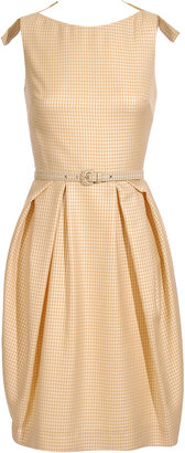Christian Dior Check dress with full skirt