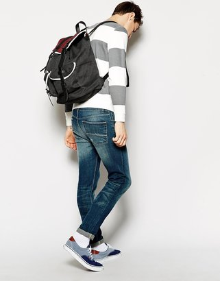Asos Oversized Backpack with Contrast Straps