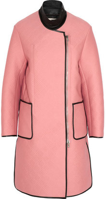 3.1 Phillip Lim Embossed neoprene-effect jersey coat