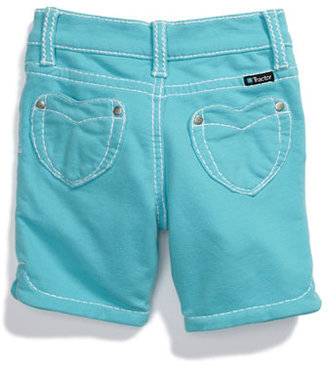 Tractor 'Heart Pocket' French Terry Bermuda Shorts (Little Girls)