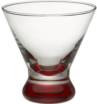 Crate & Barrel Dizzy Red Cocktail Glass