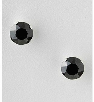 Swarovski Designs by FMC Sterling Silver 8MM Black Elements Stud Earrings