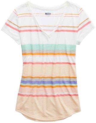 aerie Striped V-Neck T-Shirt