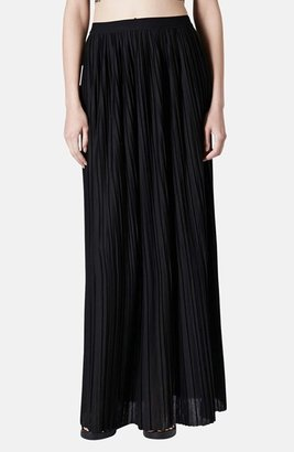 Topshop Pleated Maxi Skirt