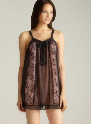 Betsey Johnson Tie Front Lace Chemise