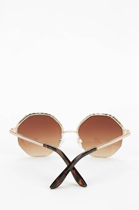 Urban Outfitters Braided Metal Round Sunglasses