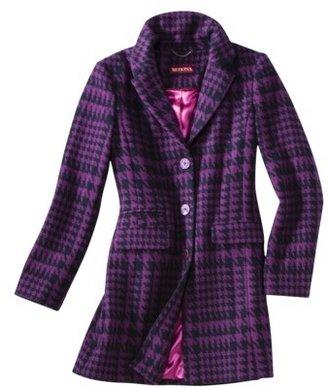 Merona Womens Classic Long Wool Houndstooth Coat -Assorted Colors