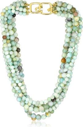 Kenneth Jay Lane 8 Row Jade Bead Necklace