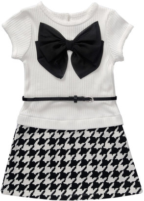 Sweet Heart Rose SWEETHEART ROSE Girls 2-6x Houndstooth Dress with Bow