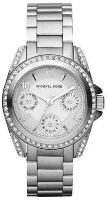 Michael Kors Ladies' Stainless Steel Crystal Chronograph Watch