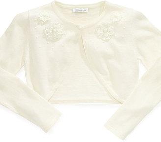 Bonnie Jean Kids Sweater, Girls Flower Cardigan