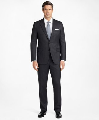 Brooks Brothers Madison Fit Saxxon Wool Herringbone 1818 Suit