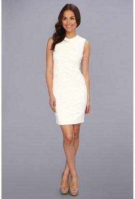 Calvin Klein Ponte Dress CD3P1G04 (Eggshell) - Apparel