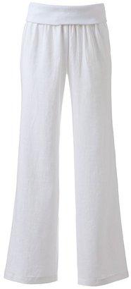 JLO by Jennifer Lopez wide-leg linen pants