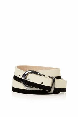 Topshop Stripe suede belt