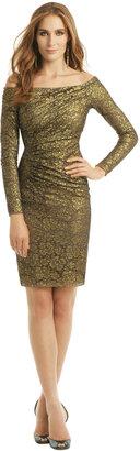 Carmen Marc Valvo Gold Idol Dress