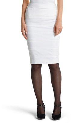White House Black Market Banded Ponte Pencil Skirt