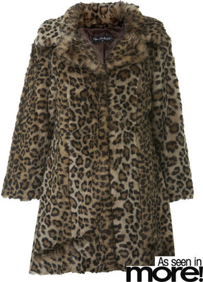 Miss Selfridge Leopard print faux fur coat