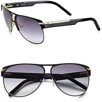 Givenchy Metal Aviator Sunglasses
