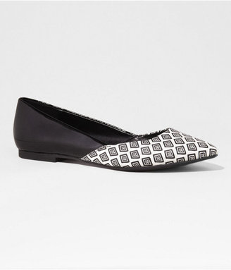 Express Half Print Pointed Toe Flat