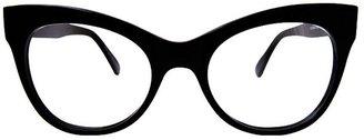 Cat Eye Kamali Kulture Square Glasses / Black