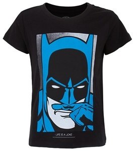 Little Eleven Paris Black Batman Tee
