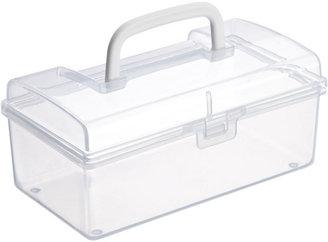 Container Store Medium Mini Storage Box w/ Handle Clear