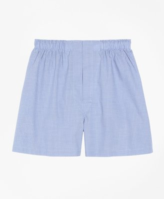 Brooks Brothers Traditional Fit Mini Check Boxers