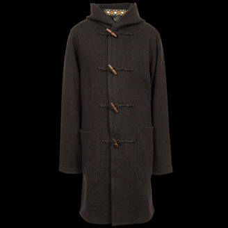c54d0d183 Pretty Green Black Malham Wool Duffle Coat