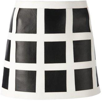 DSquared DSQUARED2 contrast grid mini skirt