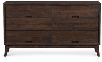 Crate & Barrel Steppe 6-Drawer Dresser