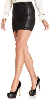 GUESS Skirt, Bandage Metallic Mini