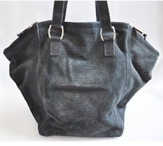 Yves Saint Laurent excellent (EX Charcoal Suede Downtown Tote Bag