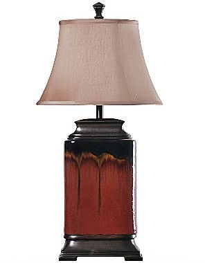 JCPenney Red Ceramic Table Lamp