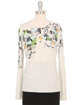3.1 Phillip Lim Floral Printed Pullover Sweater